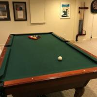 Great Condition Olhausen Pool Table With Accessories