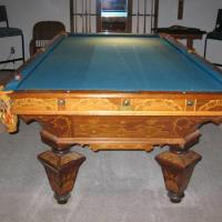 Brunswick Pool Table Circa 1880